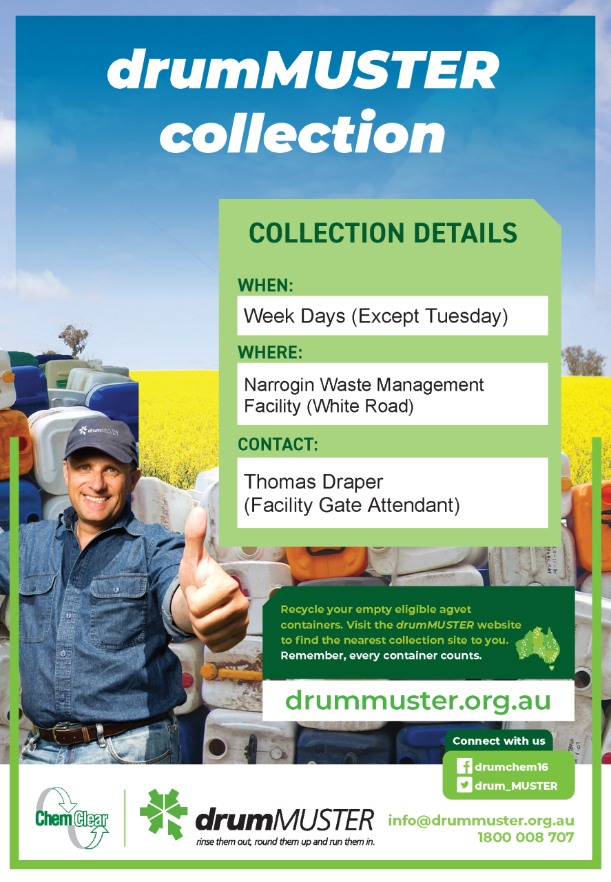 drum muster collection details poster