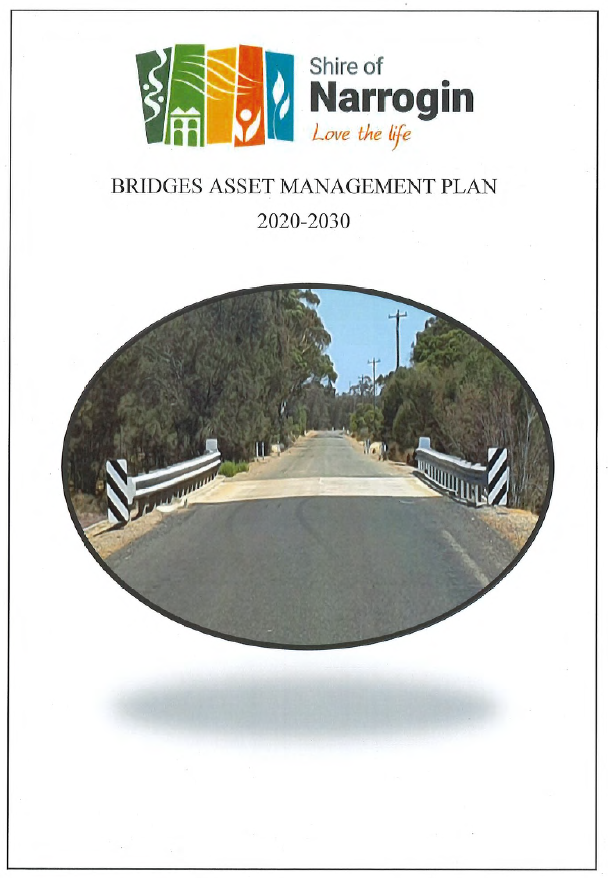 Cover page of Bridges Asset Management Plan