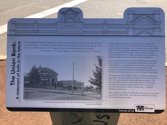 Stories of Us: The Narrogin - 1. The Union Bank: A statement of
