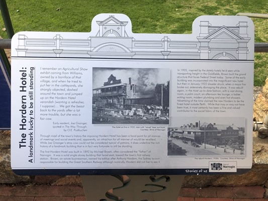 Stories of Us: The Narrogin - 22. The Hordern Hotel: A landmark