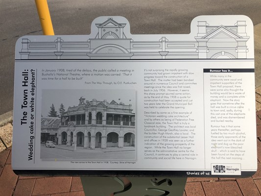 Stories of Us: The Narrogin - 20. The Town Hall: Wedding cake or