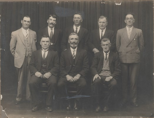 Mayors, Chairs and Presidents - Pethybridge, J (standing far left)