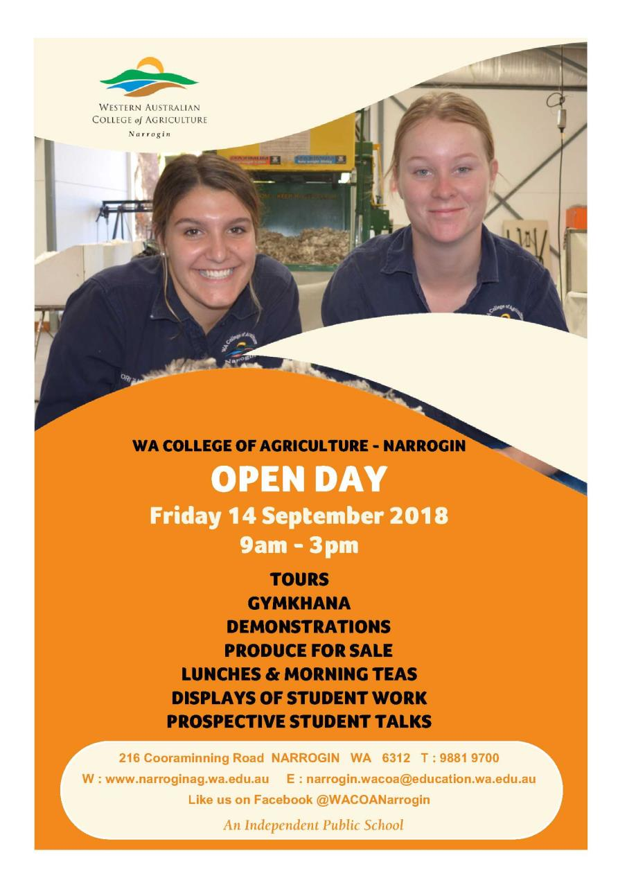 WA College of Agriculture Narrogin - Open Day