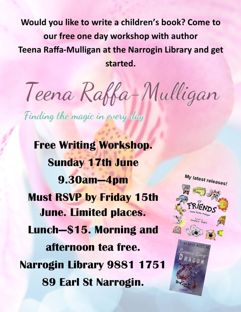 Free Writing for Children Workshop Teena Raffa-Mulligan