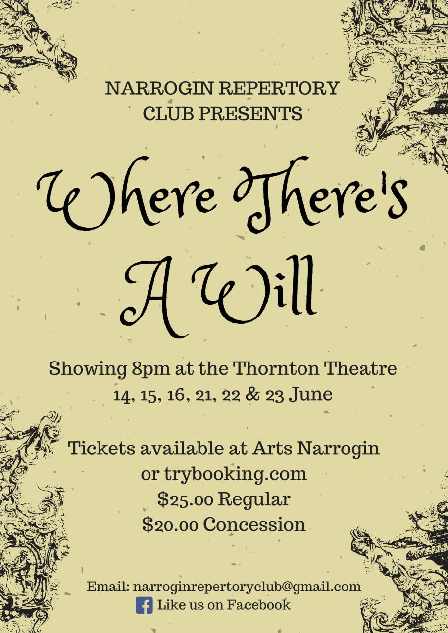 Where There's A Will - Narrogin Repertory Club