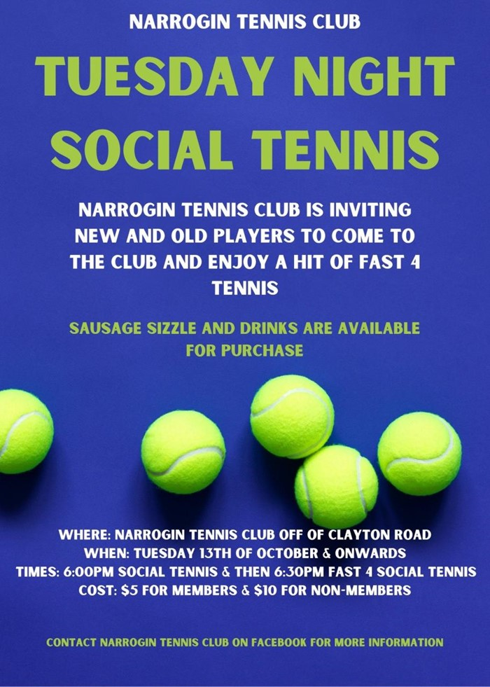 Tuesday Social Tennis
