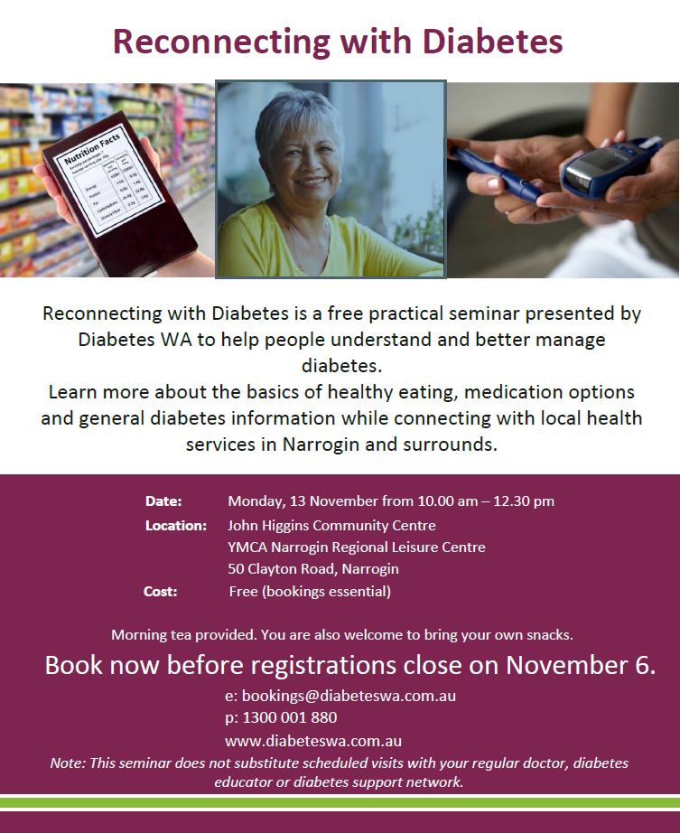 Flyer Reconnecting with Diabetes