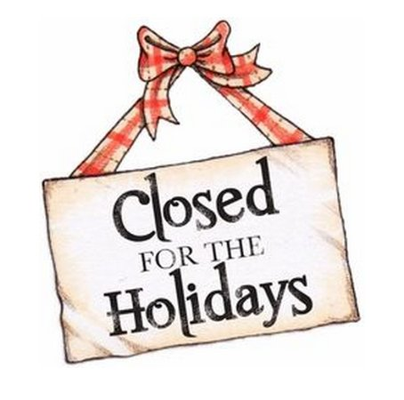 Closure during Christmas